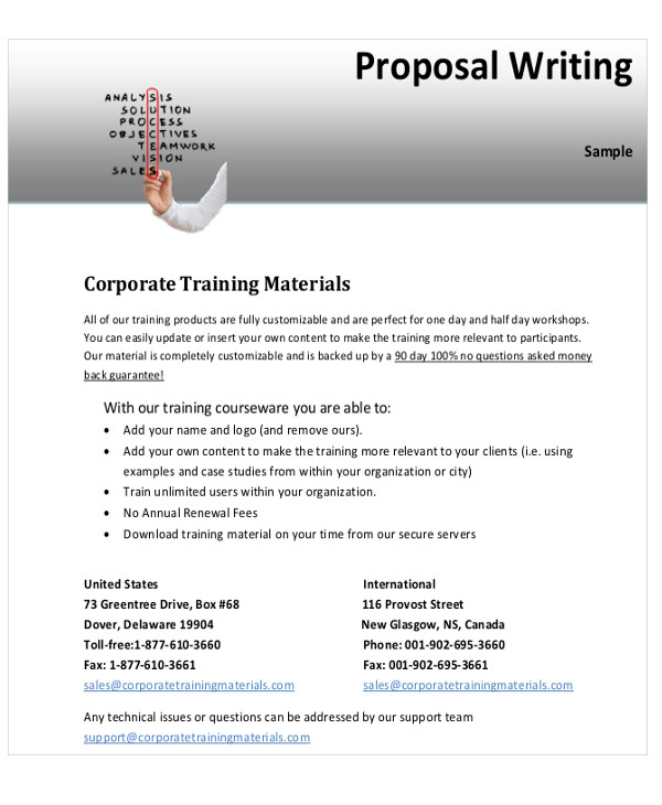 10+ Sample Training Proposal Letters - PDF, Word