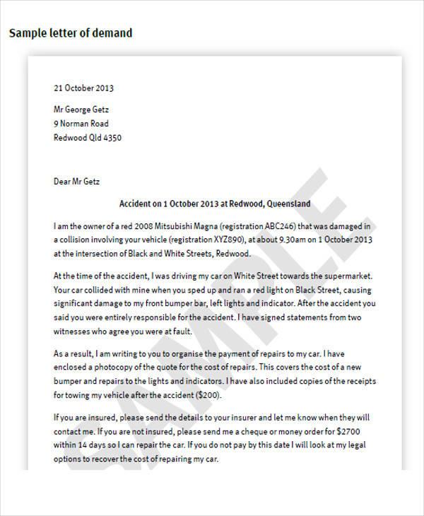 Return Property Letter Template