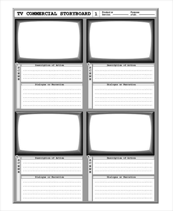 Blank Storyboard Template