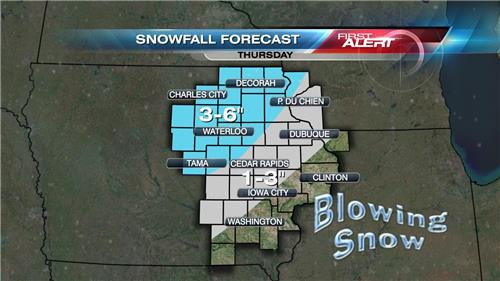 Winter Storm Takes Aim At Eastern Iowa