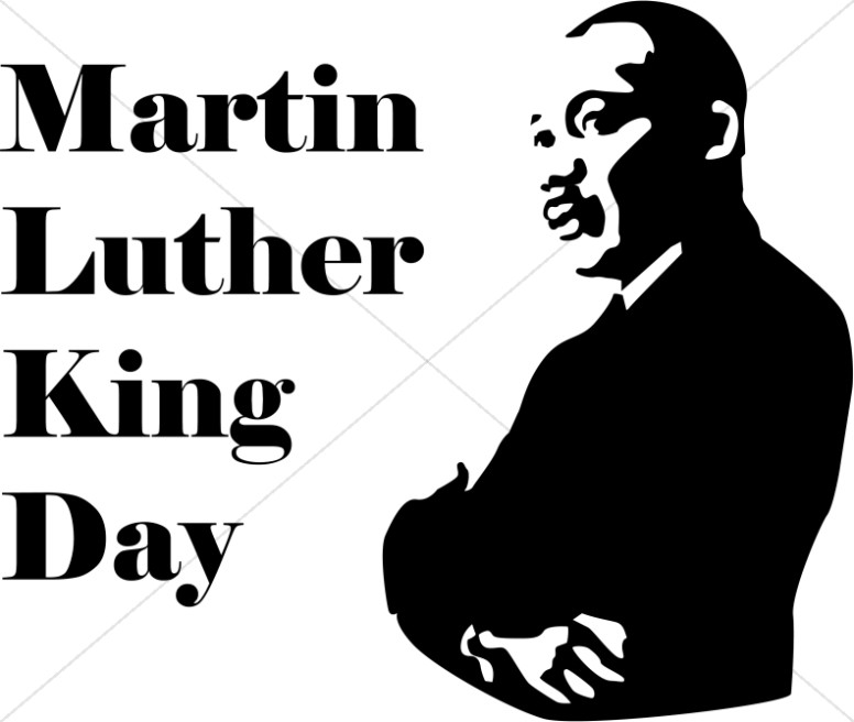 King Jr Day Martin Black White Luther And Clip Art