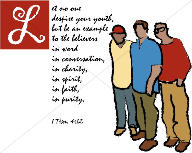 Youth Bible Verses 1 Timothy 4 12