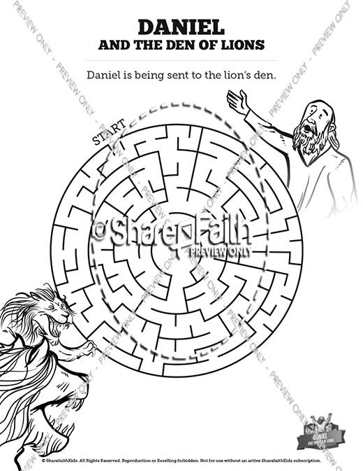 Daniel Crossword Lion Printable And S Den Puzzle