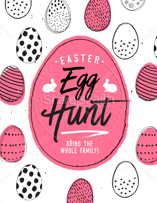 Egg Church Easter Hunt Flyer