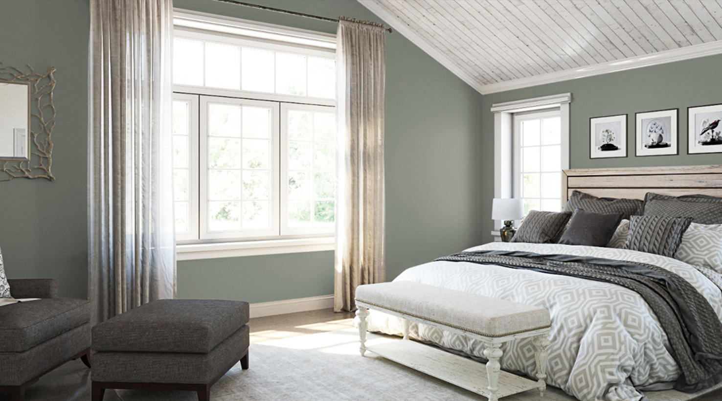 Bedroom Paint Color Ideas   Inspiration Gallery   Sherwin Williams     Bedroom   Greens