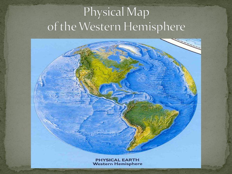 north America Physical Map Principal Hydrological