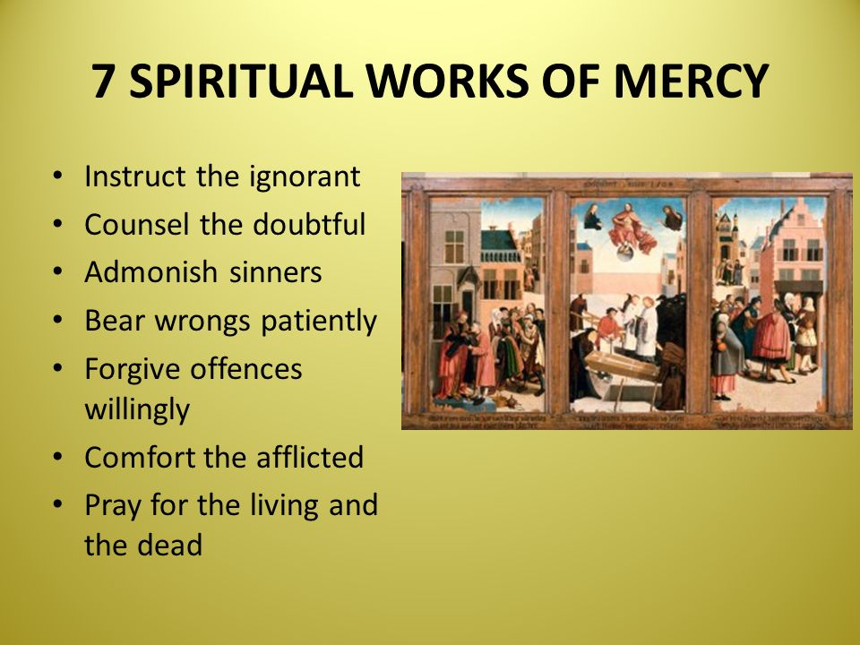 bear wrongs patiently spiritual works of mercy - 960×720