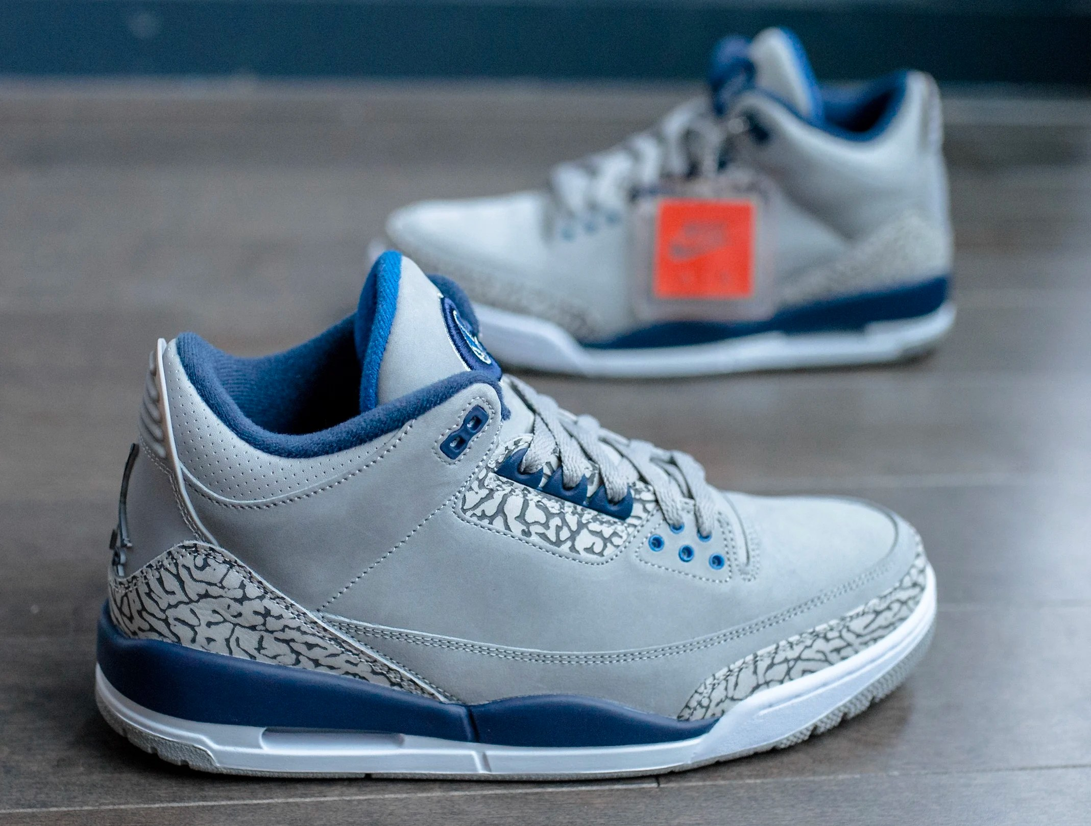 Air Jordan 3  Georgetown Hoyas  PE Detailed Images   Sole Collector OG details on the PE pair