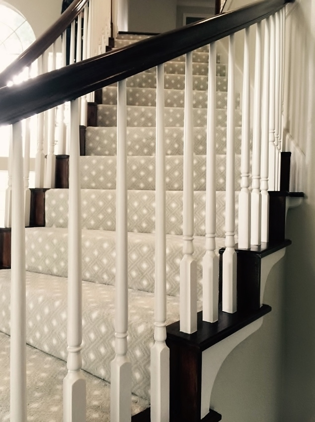 Should I Carpet My Stairs With The Same Carpet I Use Upstairs | Designer Carpet For Stairs | Stair Railing | Farmhouse | Classical Design | Style New York | Rectangular Cord Treads