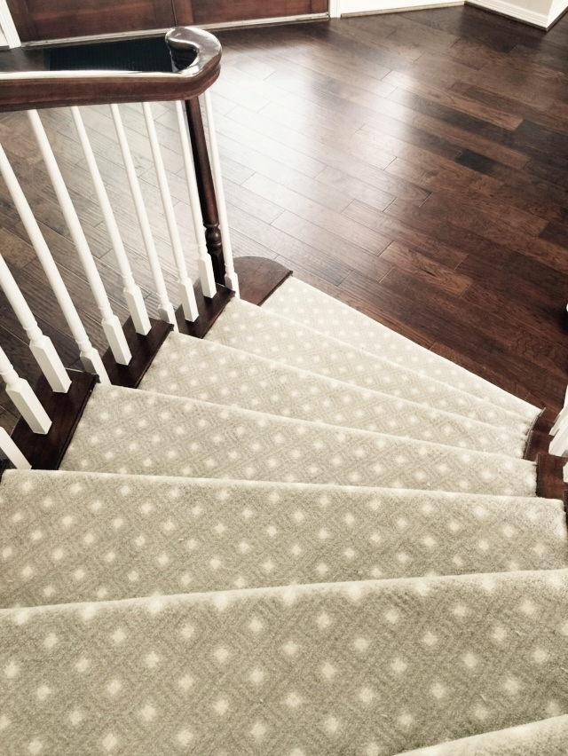 Should I Carpet My Stairs With The Same Carpet I Use Upstairs | Hall Stairs And Landing Carpet | Stair Landing 1028 1028 | Staircase | Grey | White | Pinstripe Grey