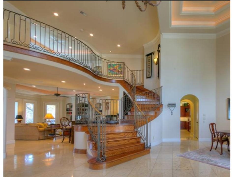 Consultation Advice Overbearing Wood Stairs A Huge Entry Hall | Living Room Stairs Design | Home | Classic House | Catalogue | White | Semi Circle House