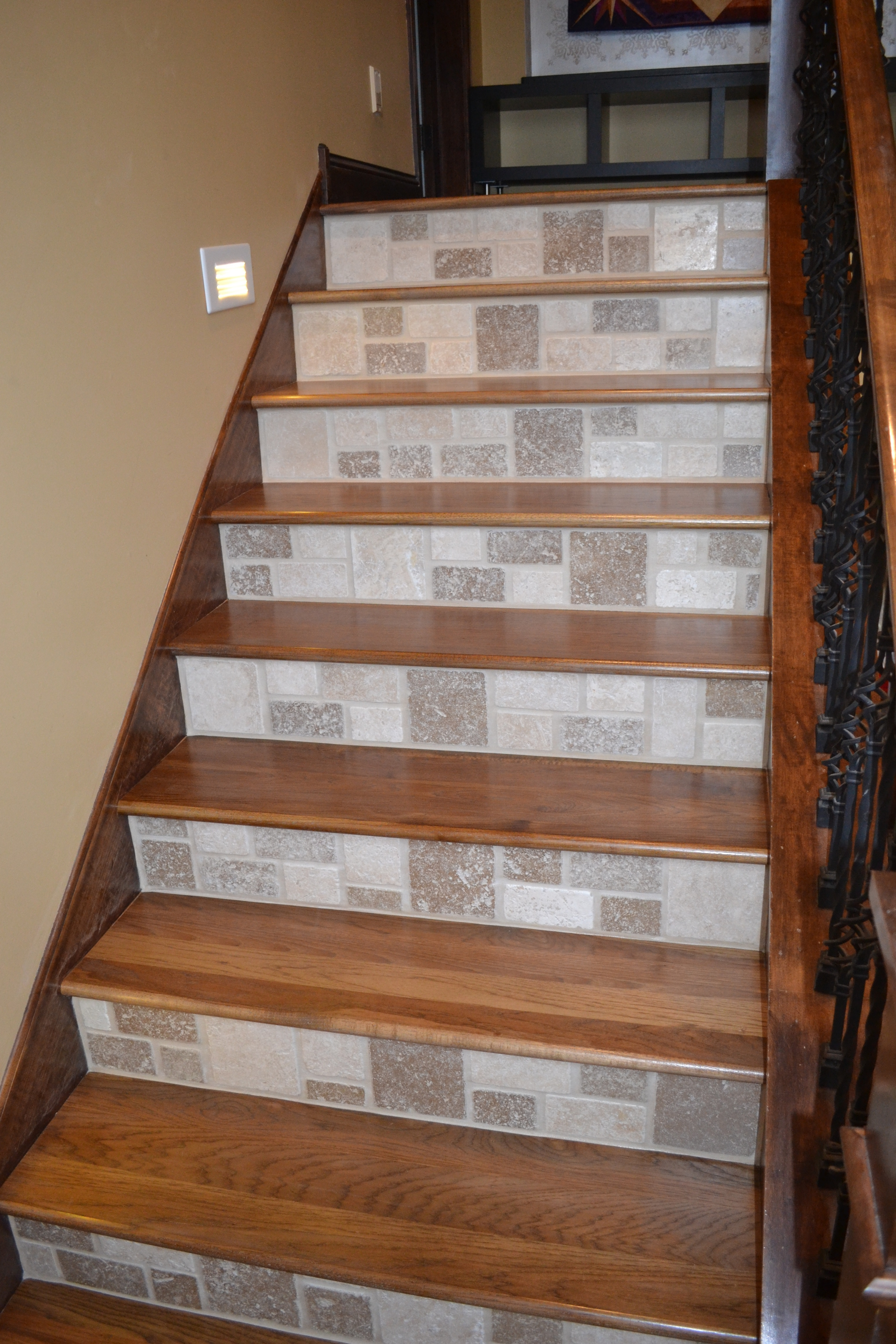 Wood Staircase Installation Gallery — Raven Hardwood Flooring   Wood Stair Treads And Risers