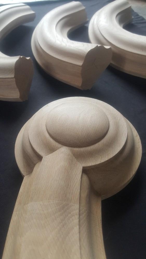 Large White Oak Handrail — Custom Handrails | White Oak Handrail Round | Flooring | Wood Handrail | Foyer | Mopstick | Staircase