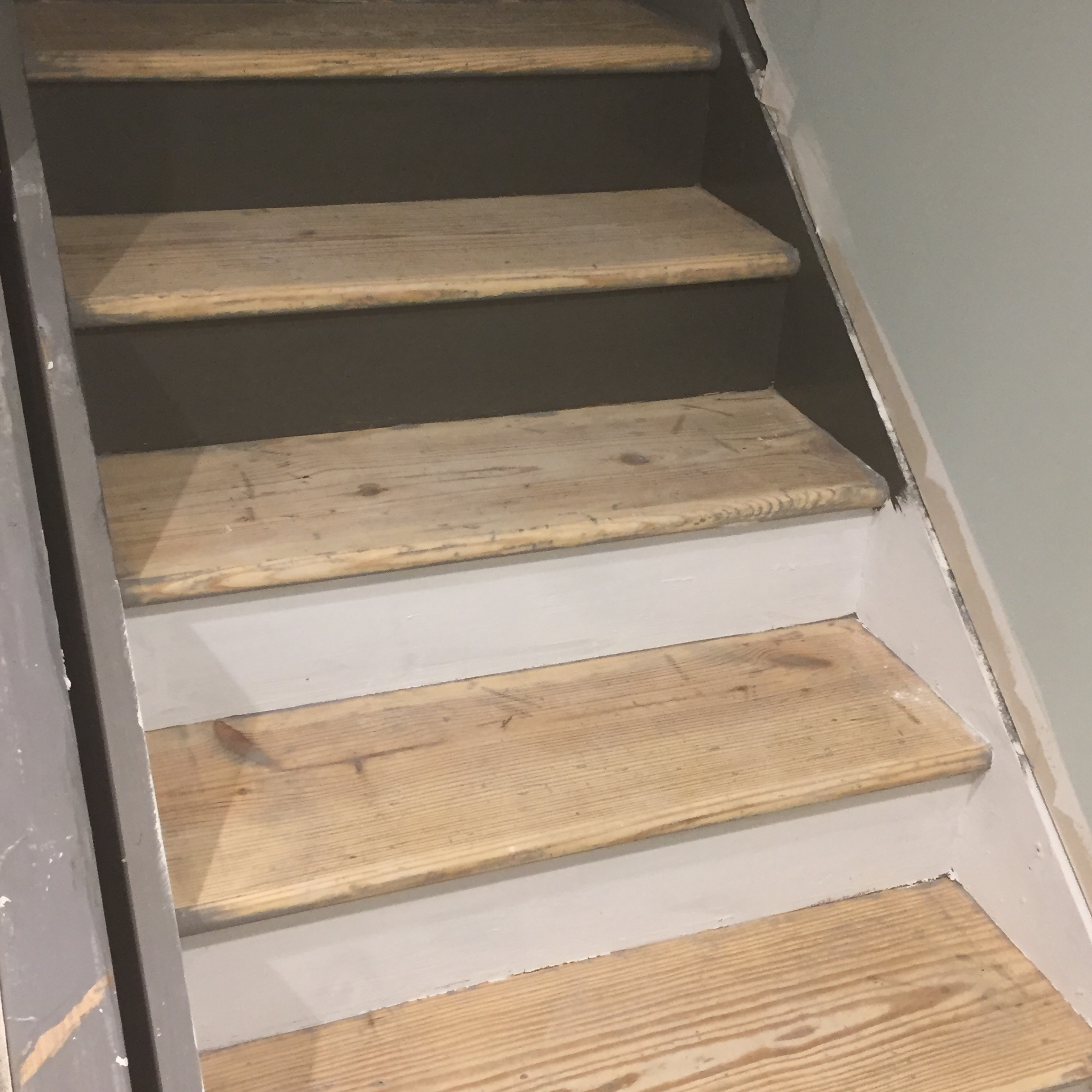 Staircase Remodel Diy Basement Stair Transformation — Revival   Refinishing Builder Grade Stairs   Diy   Basement Stairs   Staircase Makeover   Flooring   Carpeted Stairs