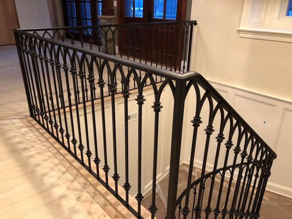 Gallery Of Wrought Iron Interior Railings — Wrought Iron Railings | Custom Iron Stair Railing | Indoor | Steel | Metal | Curved | Ornamental