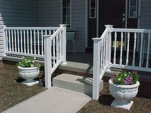 Decks Railings — Bugh Inc | Vinyl Railings For Outside Steps | Balusters | Composite | Wood | Precast Concrete Steps | Railing Installation