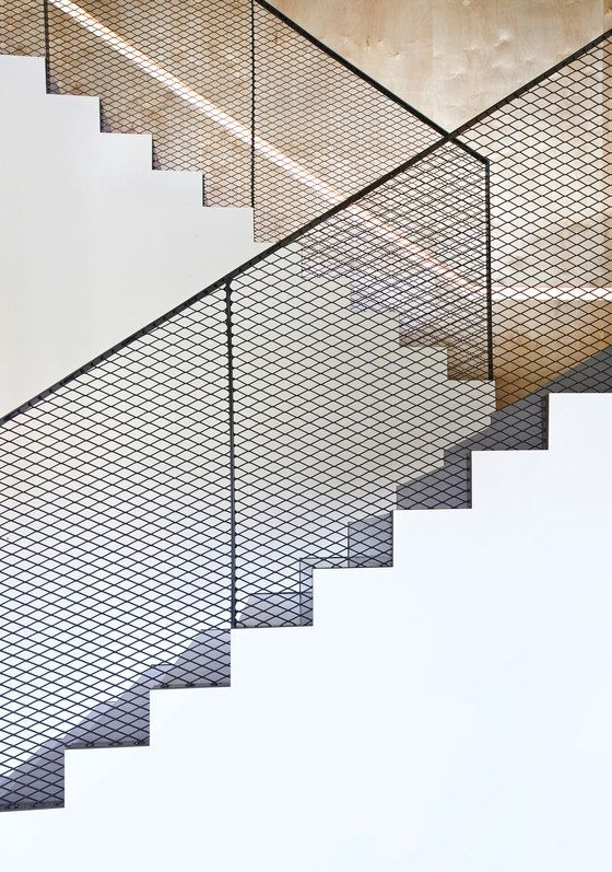 50 Amazing And Modern Staircase Ideas And Designs — Renoguide   Modern Black Metal Stair Railing   Minimalist   Metal Spindle   Simple Two Story House   Dark Wood   Rustic