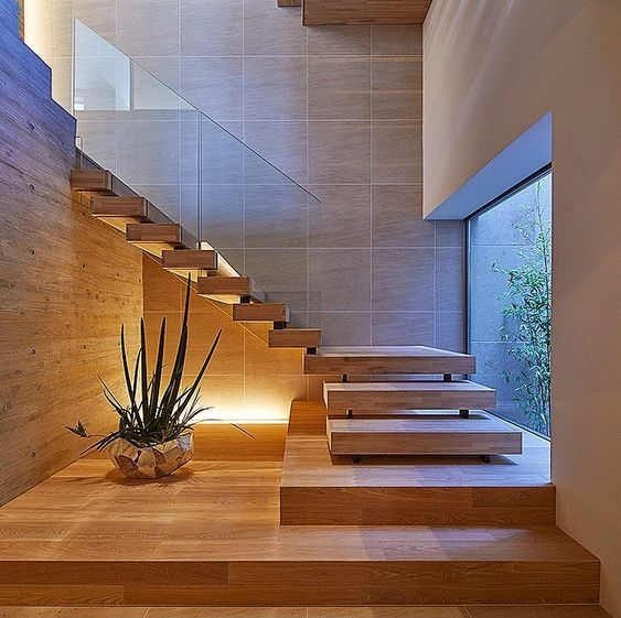 50 Amazing And Modern Staircase Ideas And Designs — Renoguide | House Interior Steps Design | Living Room | White | Architecture | Small | Low Cost