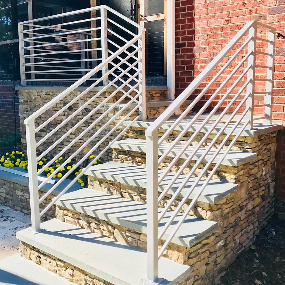Master Fabrication — Wrought Iron Stair Railings Charlotte Nc | Exterior Iron Stair Railing | Steel | Exterior Ramp | Cheap | Wood | Contemporary