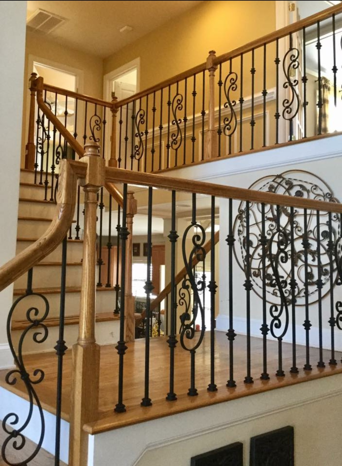 Master Fabrication — Wrought Iron Staircase Design Center | Metal Railing Designs Stairs | Rot Iron Staircase | Step | Luxury | Creative Outdoor Stair | Curved Railing