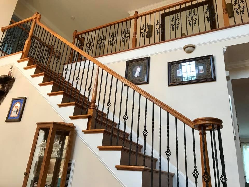 Master Fabrication — Wrought Iron Staircase Design Center   Rod Iron Spindles For Staircase   Interior   Cast Iron   Square   Custom   Metal