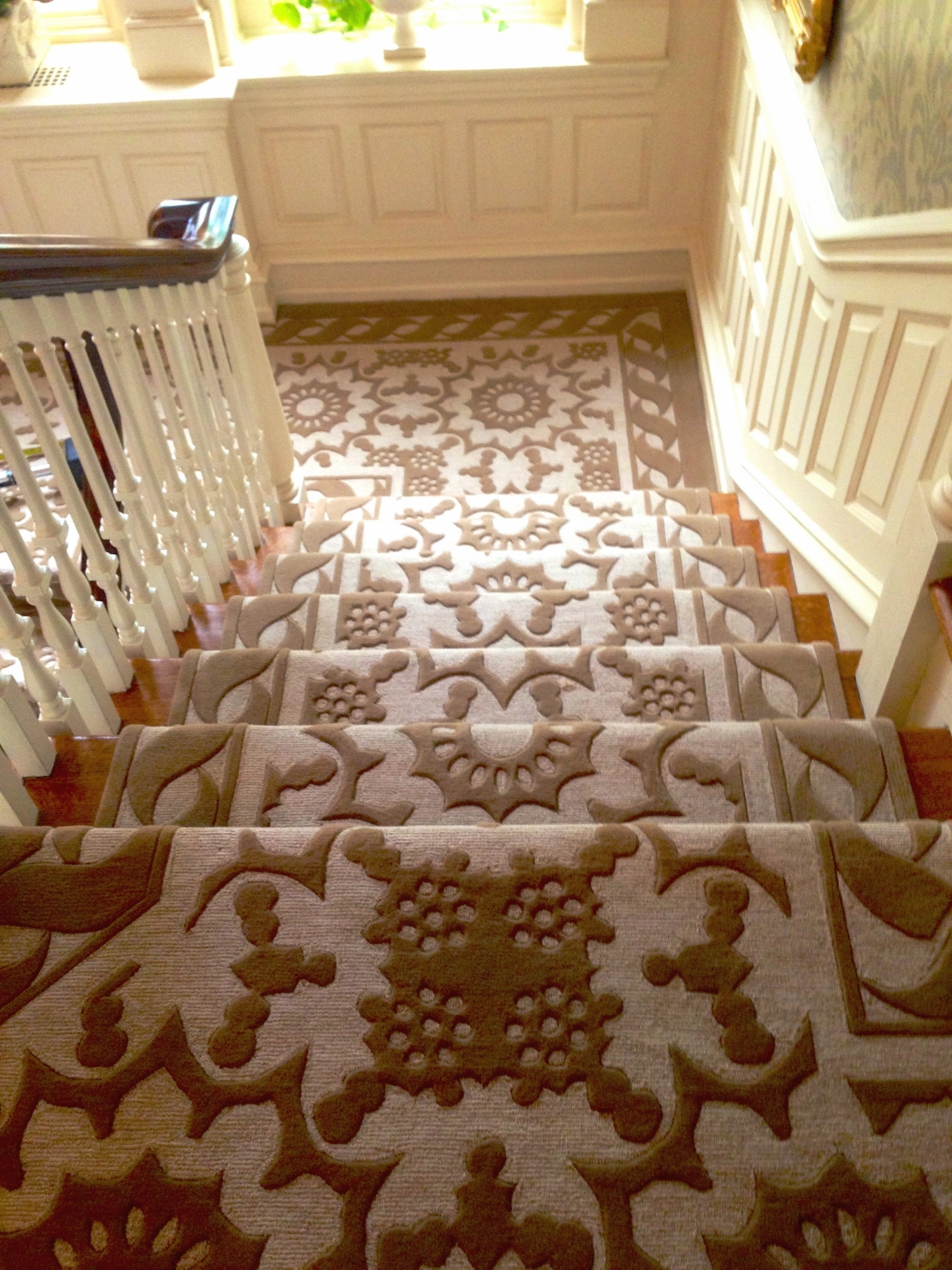Lang Carpet Portfolio Of Our Work Gallery Page — Lang Carpet | Designer Carpet For Stairs | Stair Railing | Victorian | Flower Design | Treads | American Style