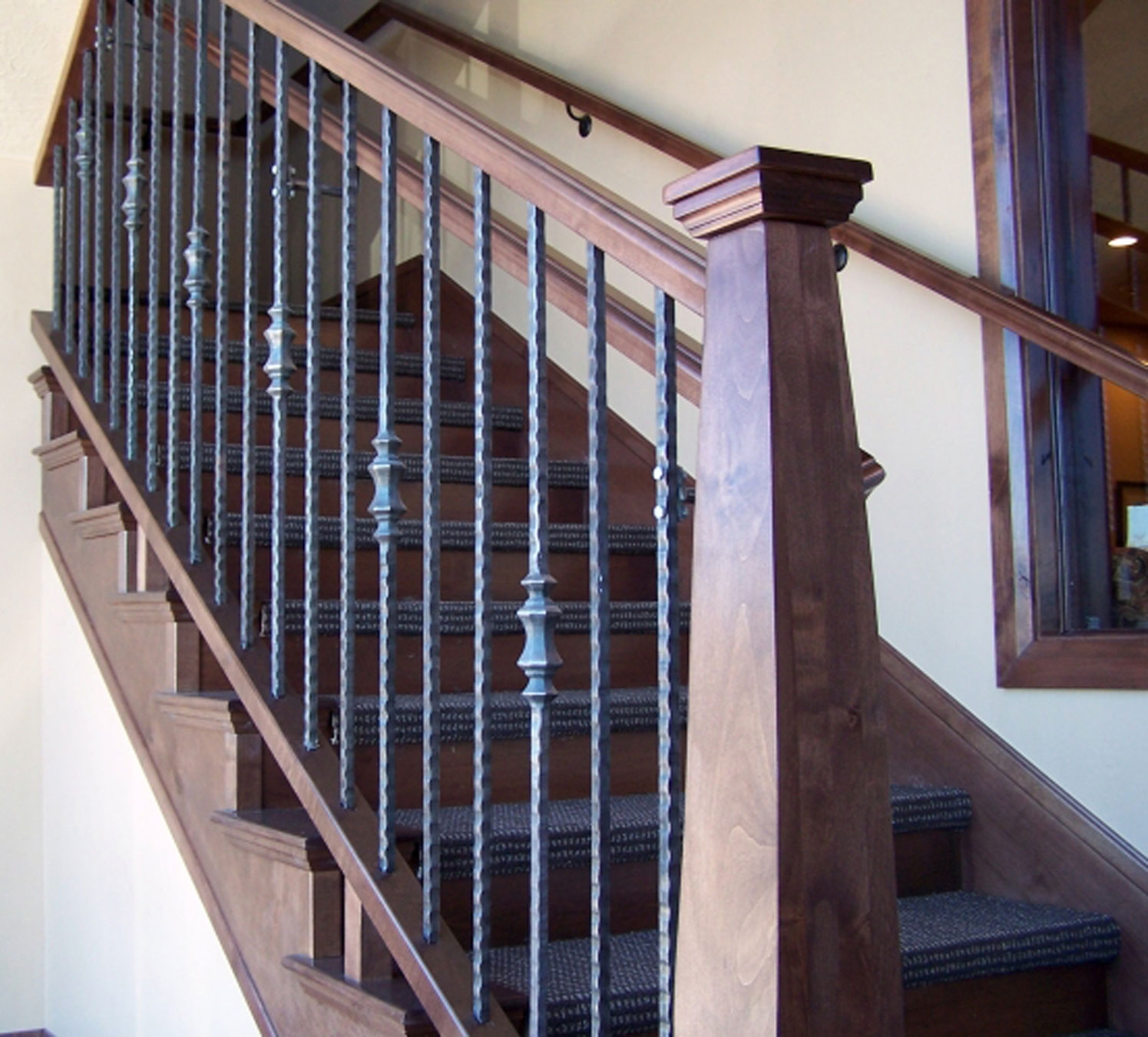 Titan Architectural Products Of Utah   Iron Handrails For Stairs   Cheap   Staircase   Spanish Style   Wood   Craftsman Style