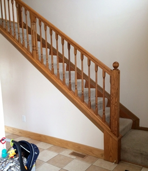 Diy Stair Makeover Carpet To Hardwood — Schooley Caldwell | Carpet And Hardwood Stairs | Wooden | Before And After | Wall To Wall Carpet | Grey | Design