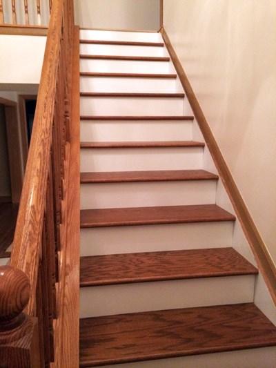 Diy Stair Makeover Carpet To Hardwood — Schooley Caldwell | Wood Treads And Risers | Custom | Metal | Reclaimed Wood | Diy | Mahogany