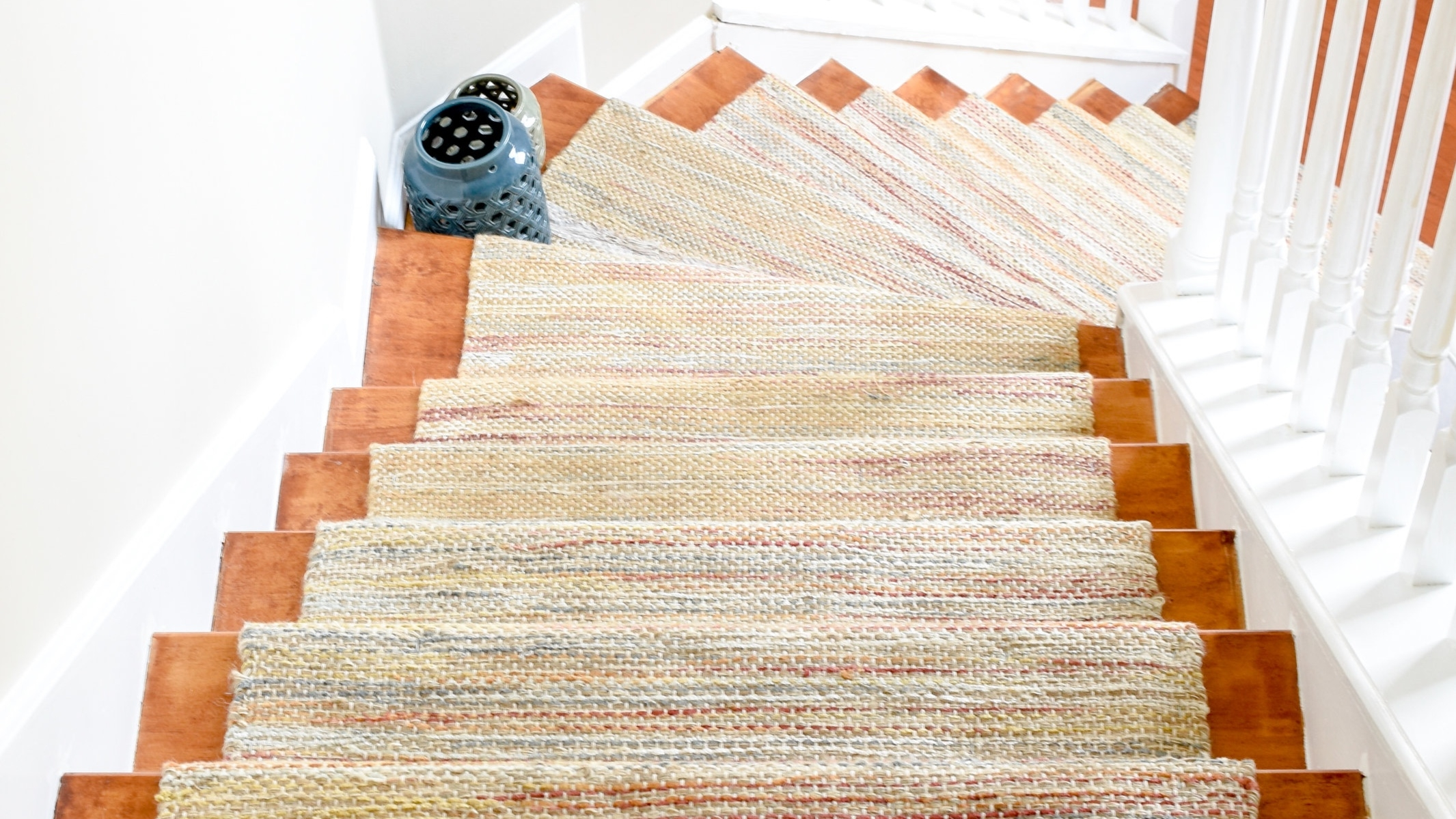 Diy Hardwood Staircase Makeover Replacing Carpet With Wood Treads   Carpeted Stairs With Wood End Caps   Stair Railing   Waterfall   Diy   Capped   Step