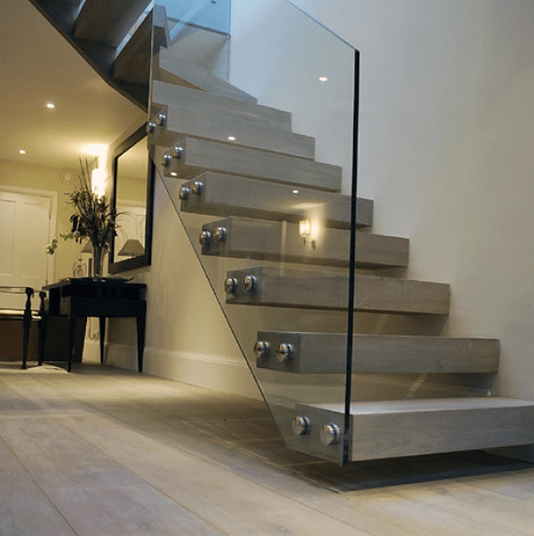 Cable Glass Systems — Oak Pointe Stair Parts And More | Oak Handrail For Glass | Cottage Style | Glass Railing | Red Oak | Landing | Stair Railing