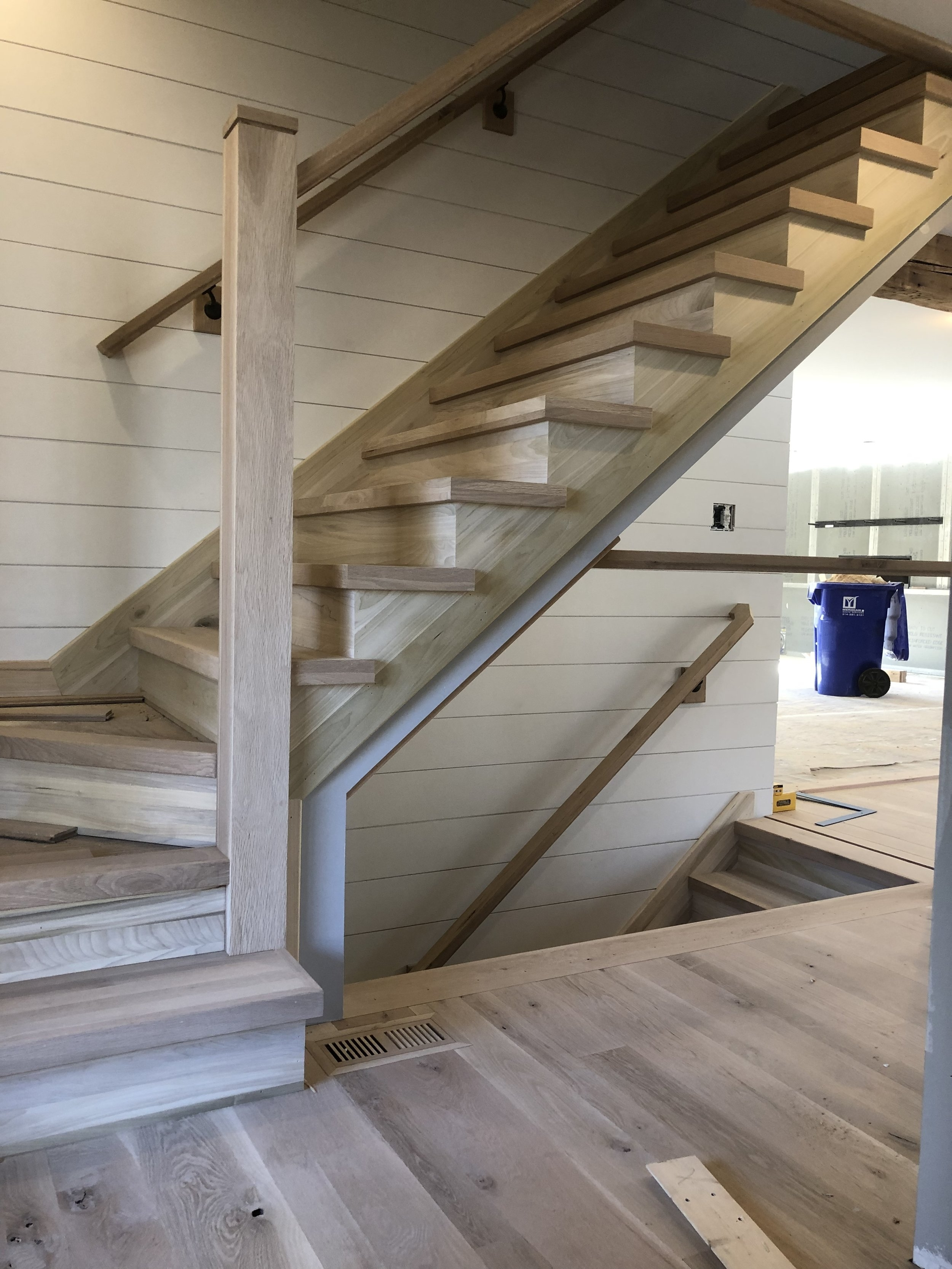 Remodel Project — Mid America Stair Company   Stairs To Second Floor Design   Bathroom Next   Space Saving   Square Shaped   Kitchen   Stairway
