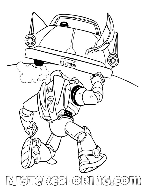 buzz lightyear coloring page # 55