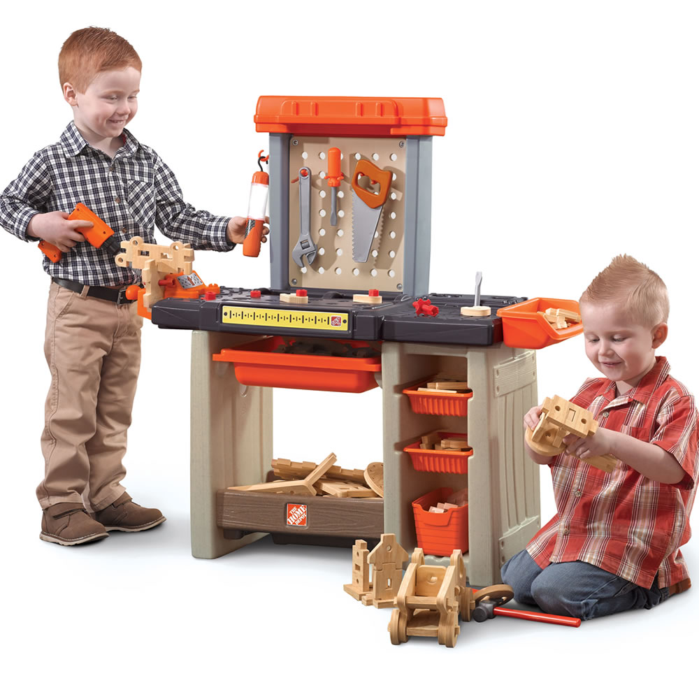 Home Depot Handyman Workbench Kids Pretend Play Step2