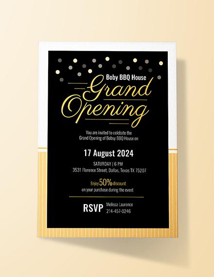 Inauguration Invitation Example