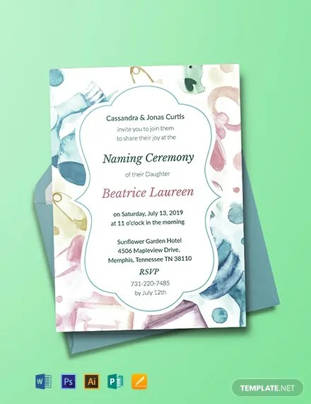 Naming Ceremony Cards
