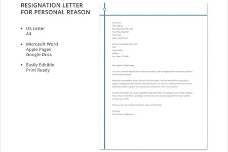 Resignation letter format due to personal reason new sample letter of resignation personal resignation letter format in word due letter of resignation personal resignation letter format in word due to personal reason spiritdancerdesigns Choice Image