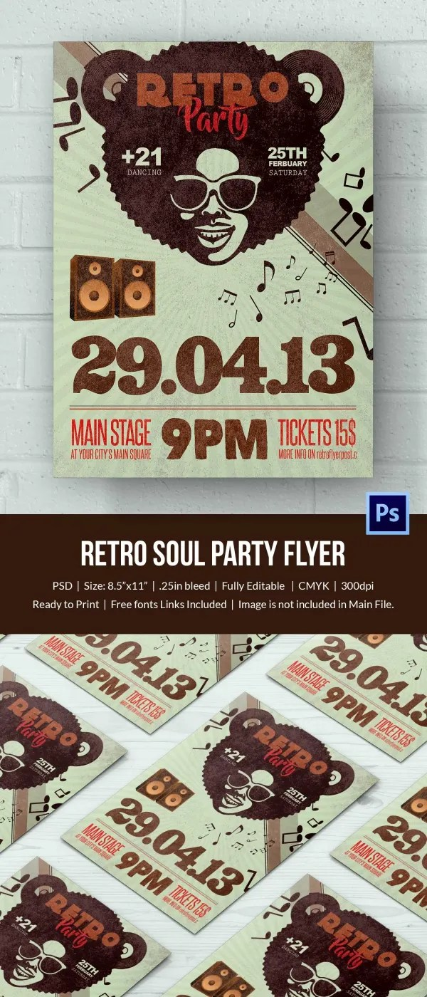 Retro Style Flyer Template 43 Free Psd Format Download