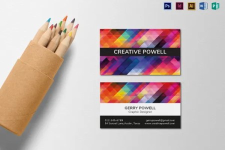 68  Business Cards for Designers   Free   Premium Templates Creative Graphic Designer Business Card Template