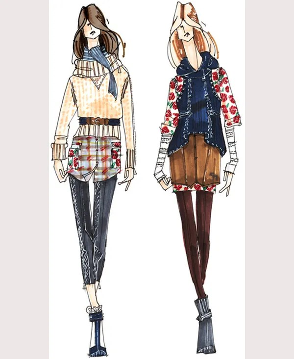 50  Best Fashion Design Sketches for your Inspiration   Free     Fashion Sketches Apparel Designer