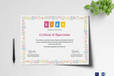 77  Creative Custom Certificate Design Templates   Free   Premium     Outstanding Student Appreciation Certificate Template