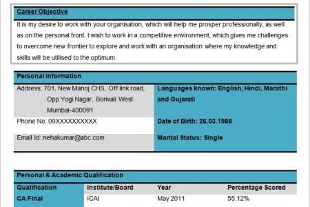 sample resume template for career download free free career » Free ...