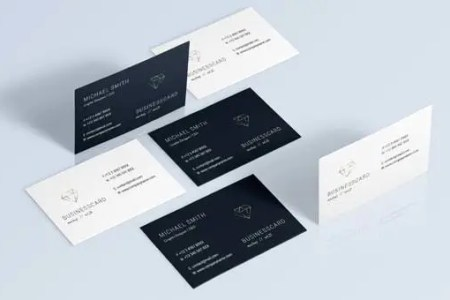 68  Best PSD Business Card Templates   Free   Premium Templates Black and White Business Card Template