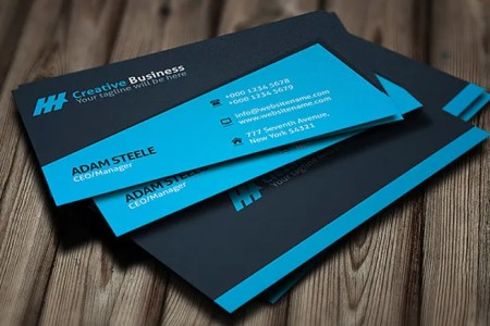 28  Personal Business Cards   Free   Premium Templates Blue Creative Manager Personal Business Card Template