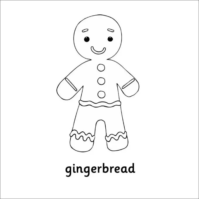 15+ GingerBread Man Templates & Colouring Pages   Free ...