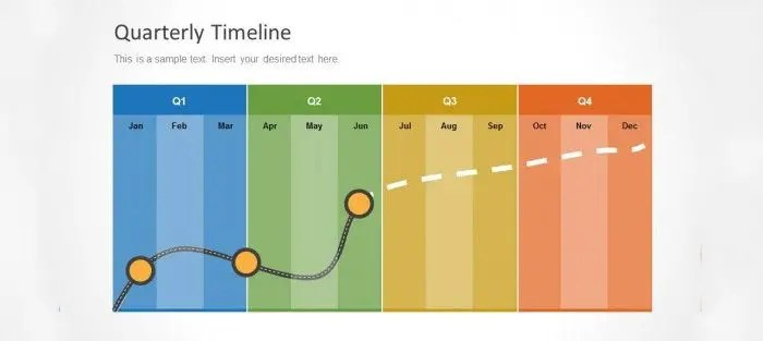 20  Timeline Powerpoint Templates   Free   Premium Templates Quarterly Timeline Template for PowerPoint