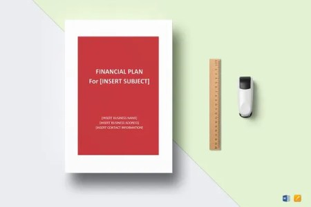 Financial Business Plan Templates   8  Free   Premium Word  Excel     Financial Plan Template
