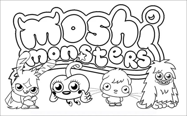 moshi monsters coloring pages # 5