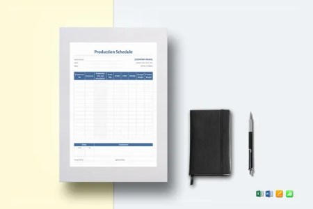 8  Film Budget Templates   Word  Excel  PDF   Free   Premium Templates Production Schedule Template to Print