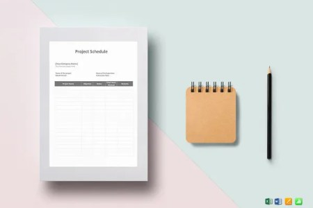 Hourly Schedule Template   35  Free Word  Excel  PDF Format   Free     Simple Project Schedule Template